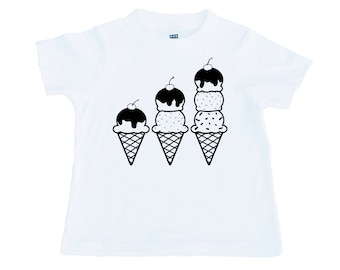 Ice Cream Tee | Kids math symbol design, functions, modern, unique, nerd, sprinkles, shirt | Abacus+Company