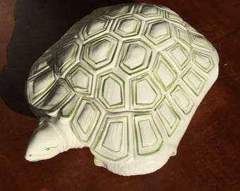 Vintage Italian Ceramic Turtle Box