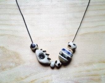 Ceramic Mixed Bead Necklace