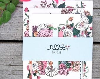 Summer Floral Wedding Invites