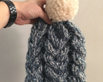 Chunky cabled beanie - Louise Hat