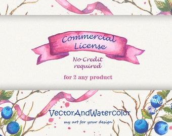 Limited Commercial License (NO Credit required for any two product)