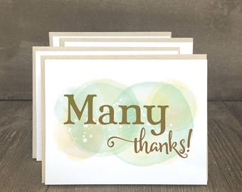 Thank you cards, Many Thanks