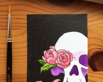 Sweet decay - original cocoa card / ACEO card