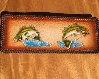 Mens leather bifold wallets