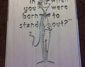 Dr Suess Why Fit In Plaque