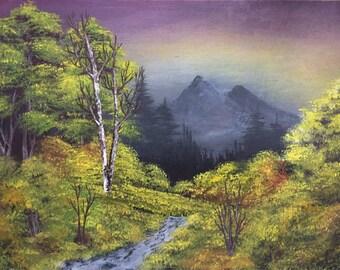Dusk, twilight.  Oil Painting,  gift, decoration