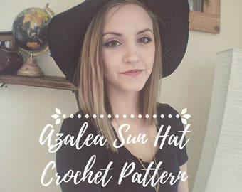 Azalea Sun Hat Crochet Pattern
