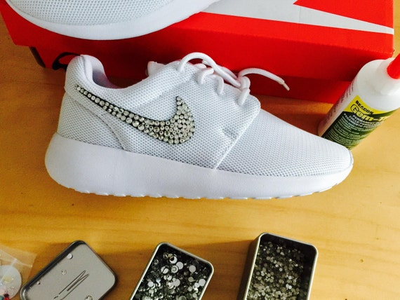 0f8f3e003dad0 lovely Swoosh Swarovski Crystals Nike Roshe Run One Women by DiyBlingLand