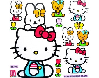 UK Hello Kitty Waterproof Stickers Furniture Kitchen Bathroom Tile Glass Phone Laptop Removable Vinyl Decal