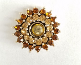 Snap Button Charms, Yellow/Amber Snap Button Charms for Snap Jewelry. Fits 18-20mm Ginger Snaps, Noosa, Magnolia & Vine, others