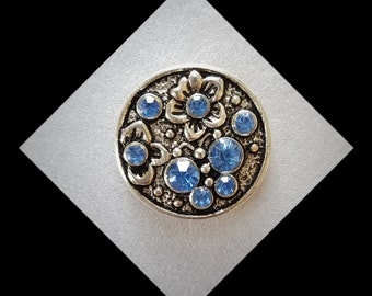 Snap Jewelry Blue Wedding -Snaps for Noosa or  Gingersnap  and other brand  snap Jewelry 20mm Snap