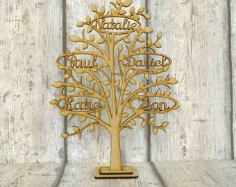 Wooden family tree, Free standing family tree, freestanding family tree, family tree, Mother's day gift