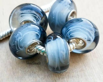 Murano glass beads, lampwork glass beads, European large glass beads, pandora style beads, large glass beads, large hole glass beads, murano