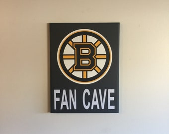 Boston Bruins Fan Cave Wood Sign / Boston Bruins Wood Sign / Boston Bruins Fan Sign / Boston Bruins Decor