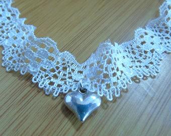 Heart Lace Choker