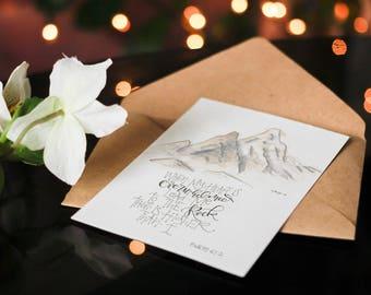 Graduation Card, Christian Greeting Card, Encouragement Card, Scripture Card, Bible Verse