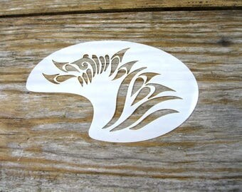 Tribal Face Paint Stencil approx 10cm x 8cm Washable and Reusable Mylar