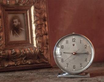 Retro Polaris Alarm Clock, Vintage industrial clock, Desk clock, Chinese Mechanical Alarm Clock, vintage clock, desk accessory,  timepiece
