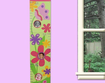 Personalized Custom Printed Flower Growth Chart Custom Name Gift