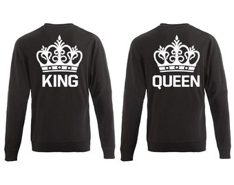 Sweater King & Queen with Crown