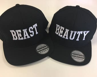 Beauty & Beast Cap-Embroidered