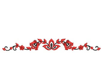 Border embroidery design. Floral border. Flower embroidery. Flower embroidery. Folk flower design. Machine embroidery. Folk border.