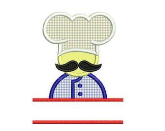 Chef Hat Embroidery Design. Monogram Frame. Frame Embroidery Design. Kitchen Embroidery. Kitchen Design. Chef Hat monogram embroidery.