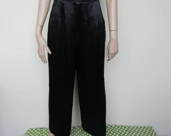 Satin Feel Black Jaeger Trousers