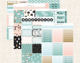 Nordic Christmas Vertical Weekly Kit | Matte | made to fit ECLP vertical