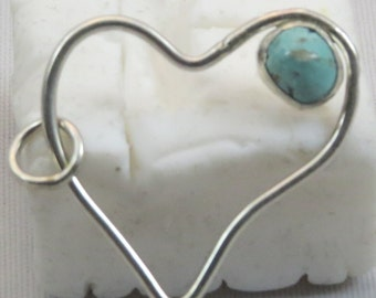 open Heart with turquoise