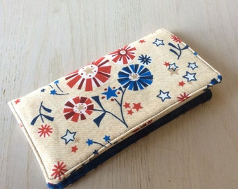 Fabric checkbook cover