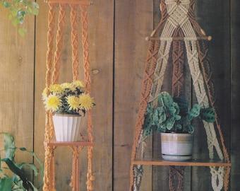 2 Vintage Macrame Plant Hanger Patterns. Macrame PDF Download