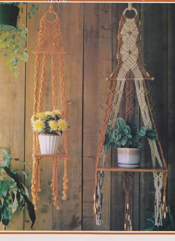 2 Vintage Macrame Plant Hanger Patterns Macrame Pdf Download