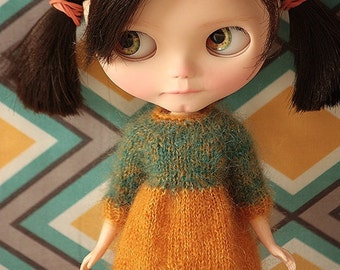 FREE SHIPPING Dress for Blythe doll - Mohair dress
