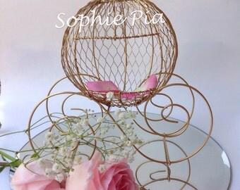 Cinderella Princess pumkin carriage. Fairytale wedding.  Disney wedding.  Cinderella carriage centerpiece.Rustic wedding.