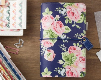 Webster's Pages Color Crush Travelers Notebook Planner - Navy Floral