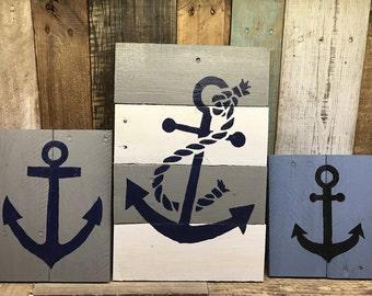 Nautical signs, Anchor signs, Bathroom decor, Nursery decor, beach decor, Nautical nursery, nautical pallet sign, boys boating, marine