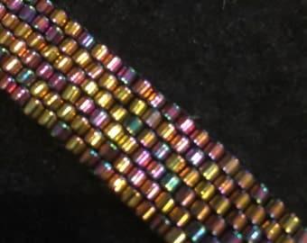 Peyote stitched metalic bracelet