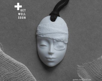 Jewelry necklace pendant porcelain jewelery amulet