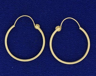 3/4 Inch Hoop Earrings