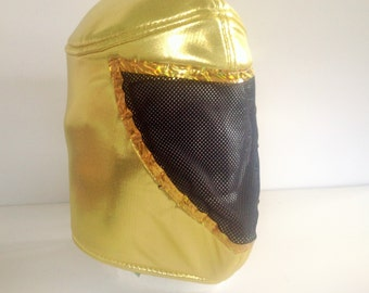 Tinieblas Mask Lucha Libre Mask Darkness Viva Lucha Libre  Mascara de Tinieblas Mexican Mask Black and Gold Mask