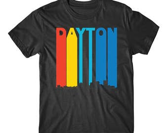 Vintage 1970's Style Dayton Ohio Skyline T-Shirt