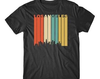 Vintage Retro 1970's Style Los Angeles California Downtown Skyline T-Shirt