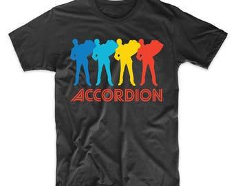 Accordion Player Retro Pop Art Accordion Graphic T-Shirt