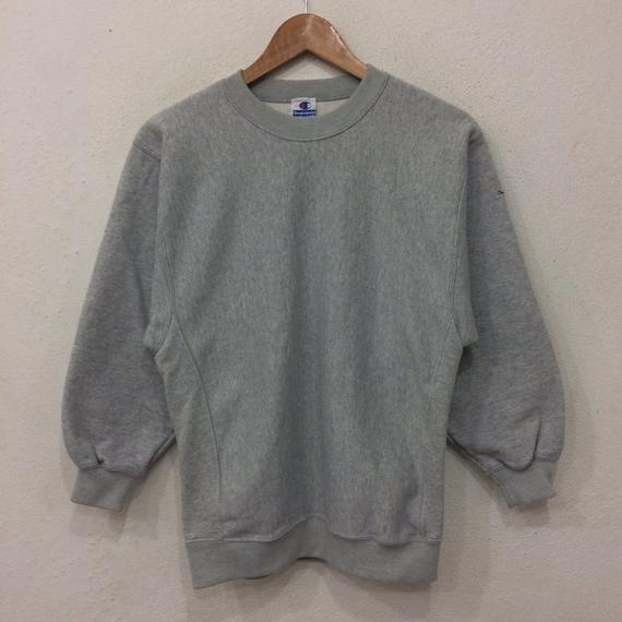 Rare!! Vintage CHAMPION Small Logo Gray Colour Sweatshirt