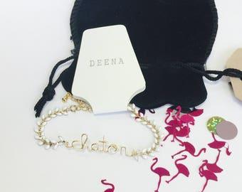 Bracelet personnalisé avec votre message sur commande