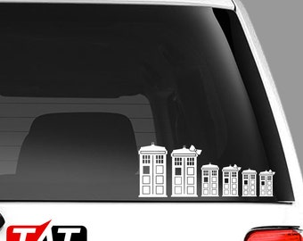 Dr. Who Tardis Family (can also have Robo Dogs or Cats) Decals