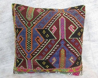"Kilim Pillow Cover,20""x20""inches,50x50cm,Anatolian Turkish Handmade Tribal Vintage Kilim Pillow Cover"