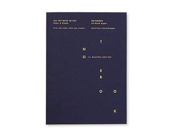 Notebook A5 - Blue Notes